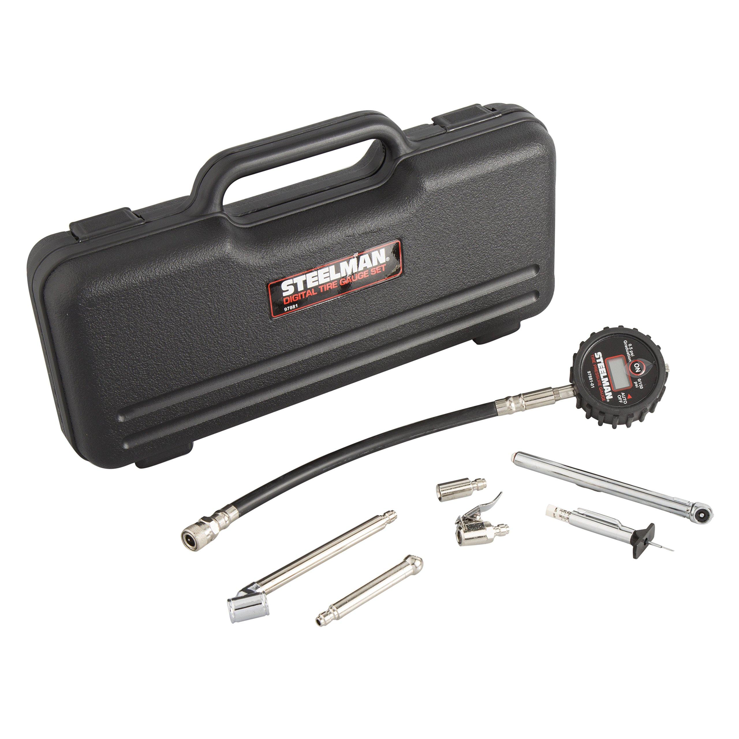 Steelman 97881 Digital Tire Gauge Set Quick Change Tips