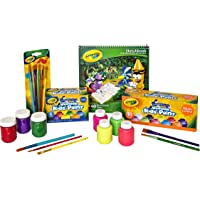 Crayola Washable Paint Set, Paint Tools, Art and Craft, School Project, Non-Toxic, Easy Clean, Ages 3, 4, 5, 6, 7, 8, 9