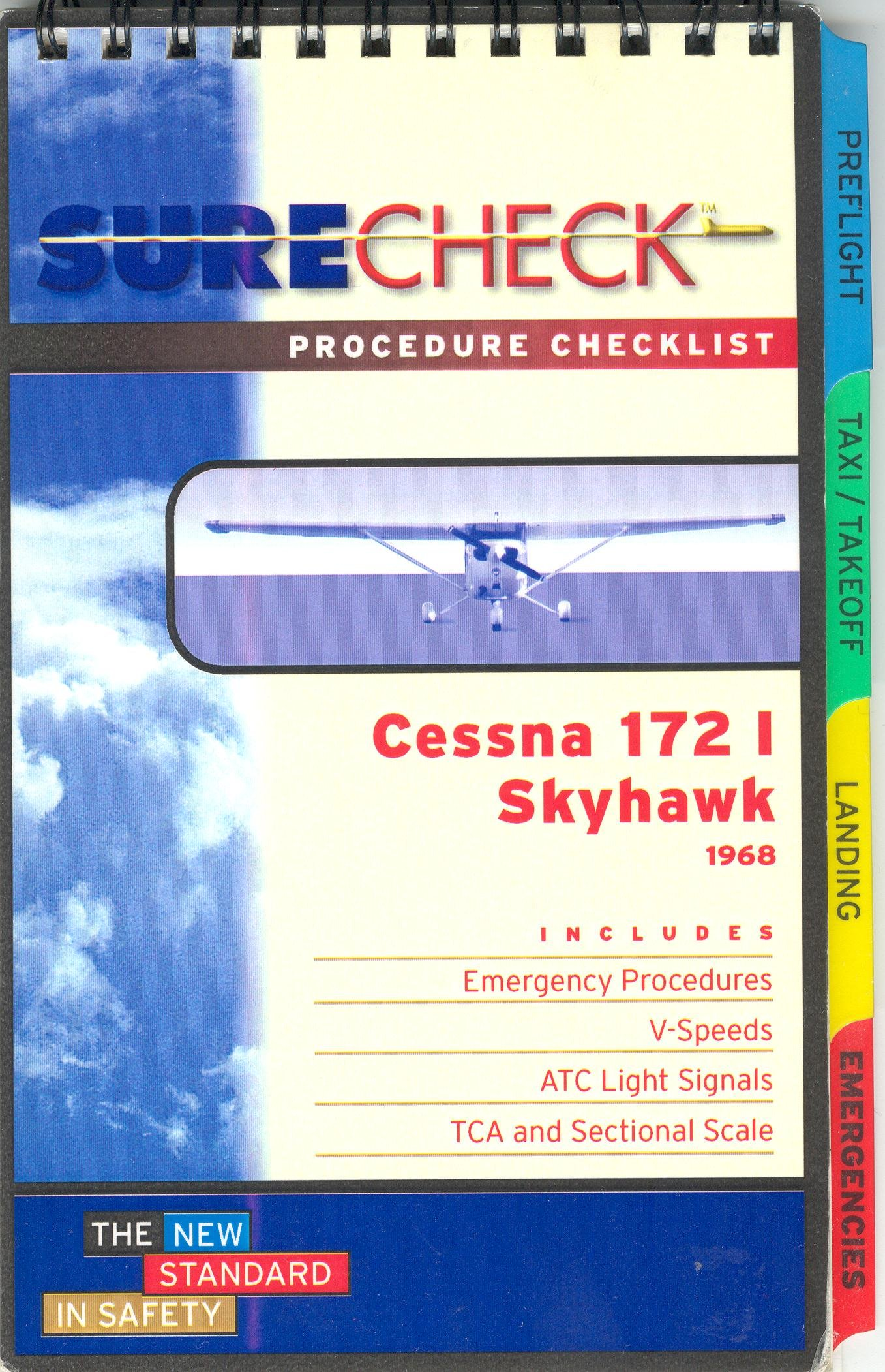 cessna 172i skyhawk 1968 procedure checklist surecheck amazon com