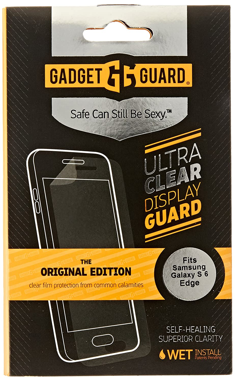 Amazon.com: Gadget Guard Screen Protector for Samsung Galaxy S6 Edge - Retail Packaging - Clear: Cell Phones & Accessories