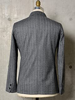 Airy Wool 2-button Jacket 117-04-0188: Charcoal Grey