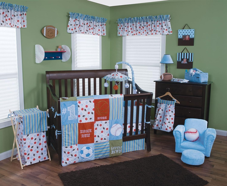Amazon Trend Lab Little MVP 3 Piece Crib Bedding Set Boy Baby Sets