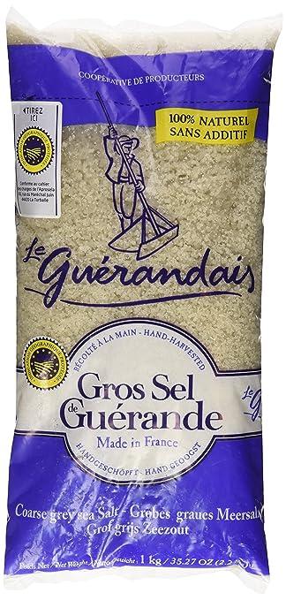 b4fca50ce9e2 Amazon.com   Le Guerandais Coarse Sea Salt Gros Sel De Guerande, 2.2 ...
