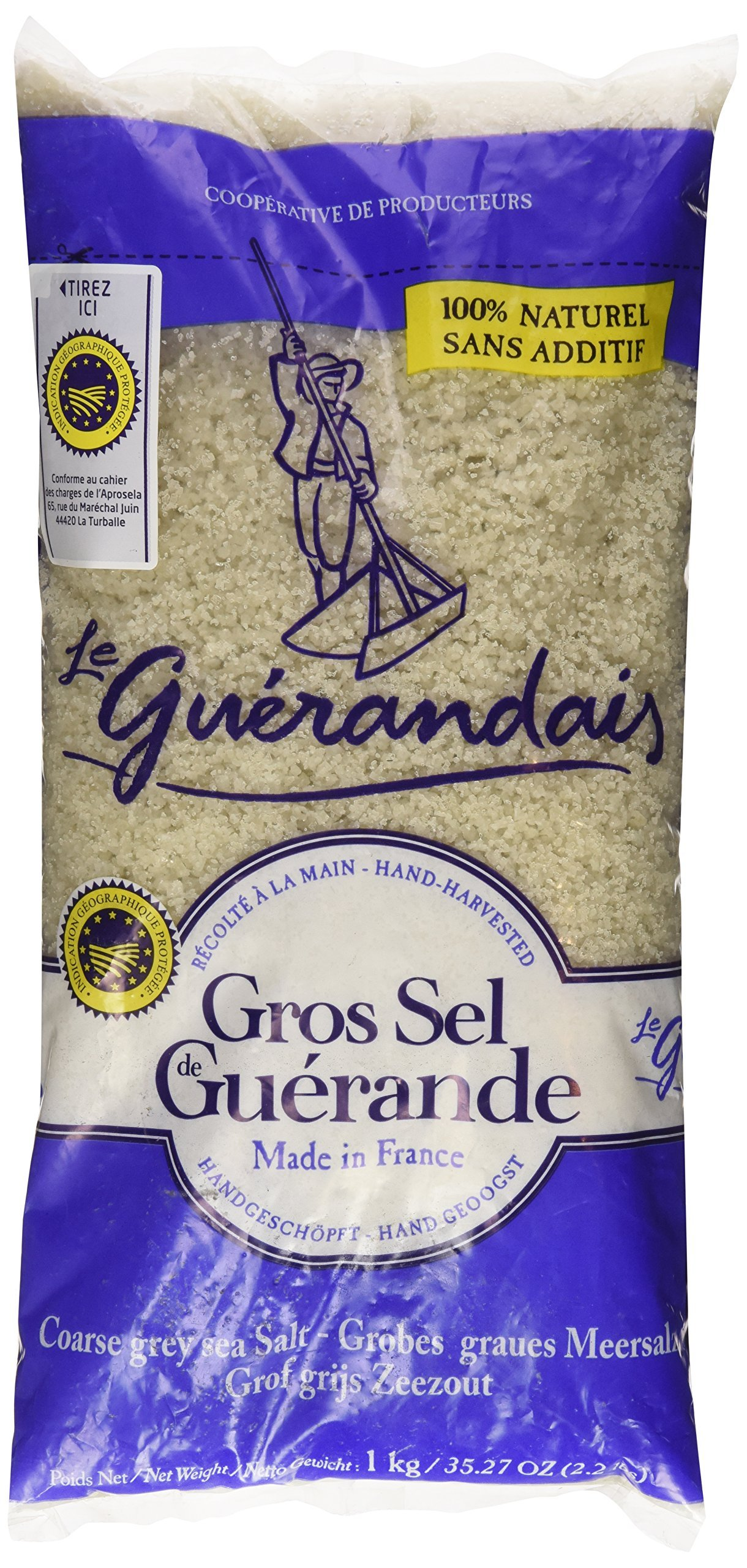 Amazon Com Guerande Fleur De Sel Sea Salt 4 4 Oz Pack Of 2