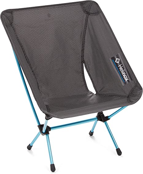 Compact High-Back Grey Collapsible Camping Chair Helinox Sunset Chair Lightweight