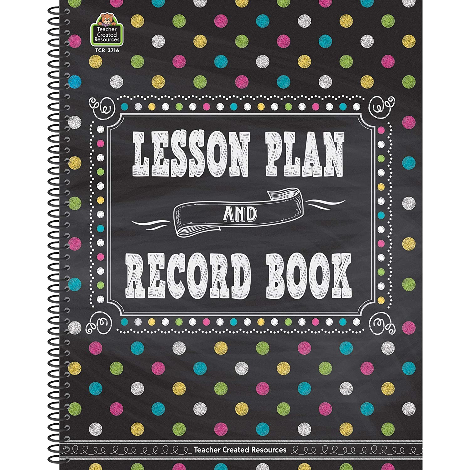 Amazon.com: Teacher Created Resources Chalkboard Brights Lesson Plan and Record  Book: Teacher Created Resources Staff: Toys & Games