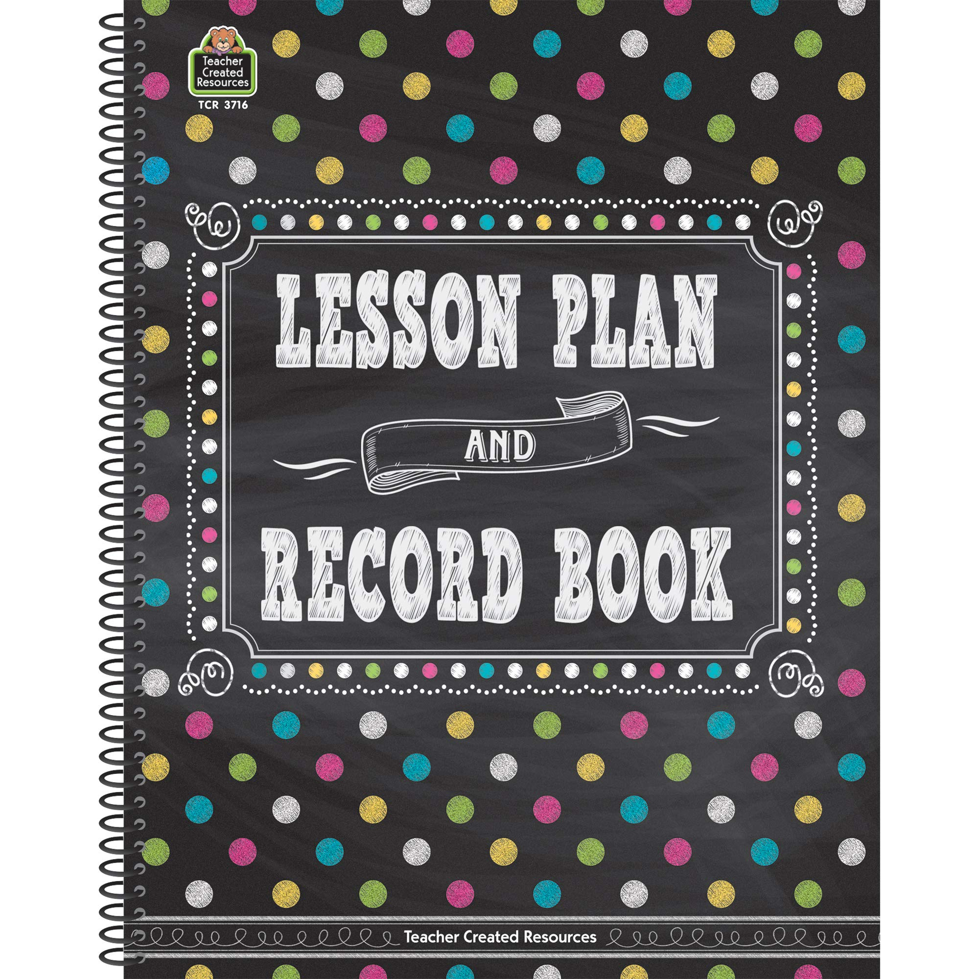 Teacher Created Resources TCR3716BN Chalkboard Brights Lesson Plan and Record Book, Pack of 2