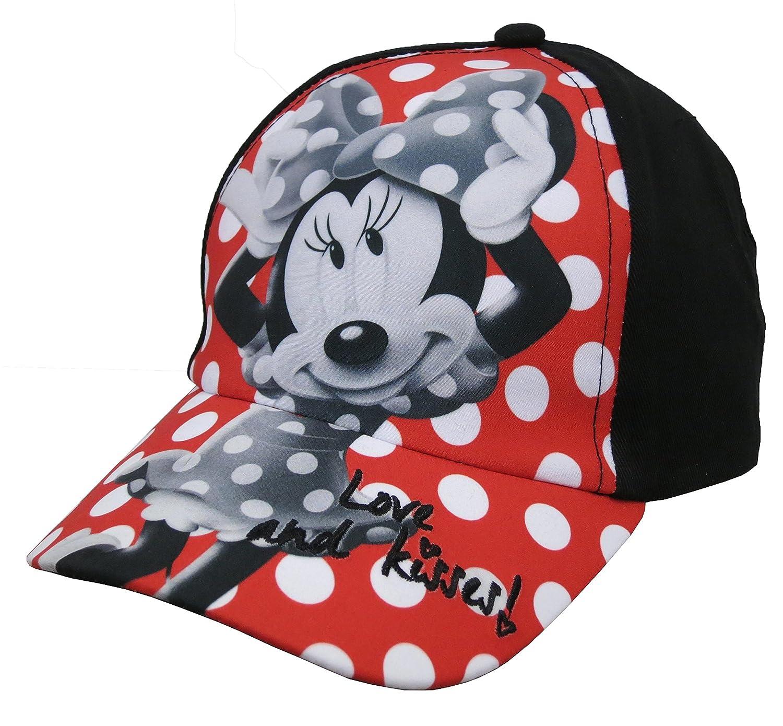 fd9ef0d4953 Disney Minnie Mouse Girls Polka Dot Black Baseball Cap - Size 4-14   Amazon.co.uk  Clothing
