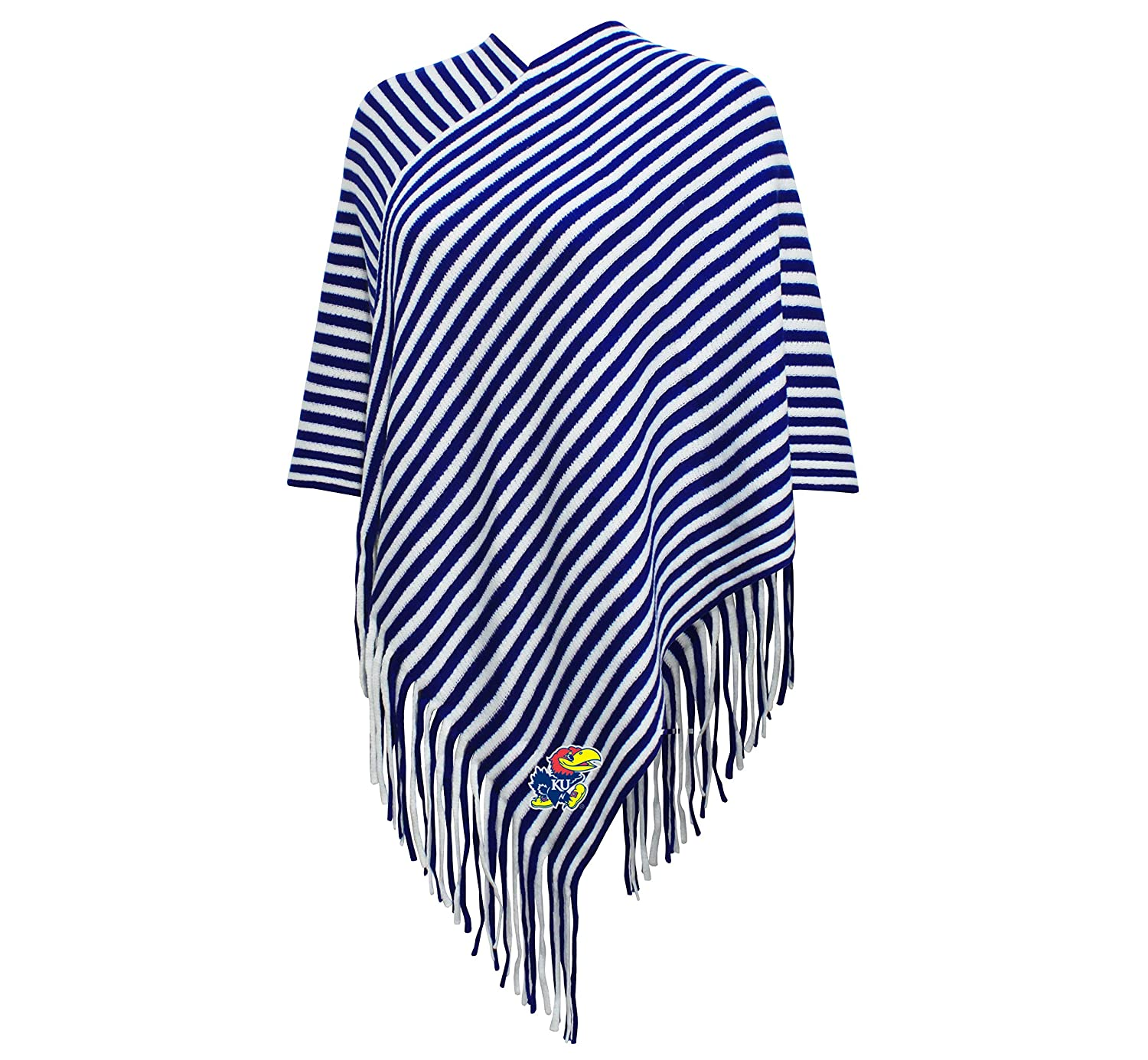 NCAA Womens NCAA Womens Campus Specialties Striped Team Poncho