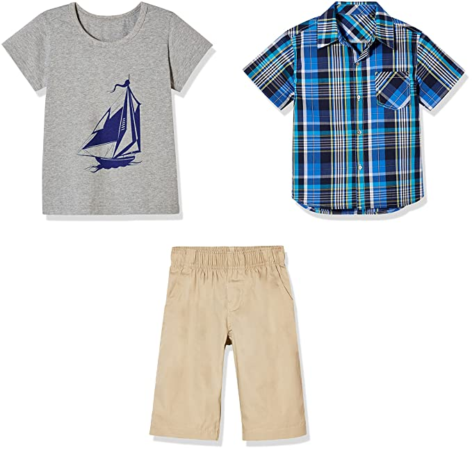 b7546c6c0a8c Sprout Star 3pcs Boy's 100% Cotton Short Set- -Kid's Cloth -Top Fahion  -from 2T to 6T