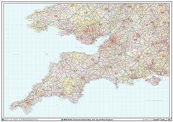 Carte Angleterre Avec Codes Postaux.Xyz Code Postal De Carte D1 South West Angleterre