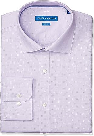 Vince Camuto Camisa de vestir ajustada para hombre, color morado: Amazon.es: Ropa y accesorios