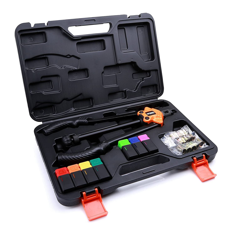 Remachadora tacklife remachadora de tuercas Alicate de Juego, remachadora eléctrica, HHNP1A-DE: Amazon.es: Bricolaje y herramientas