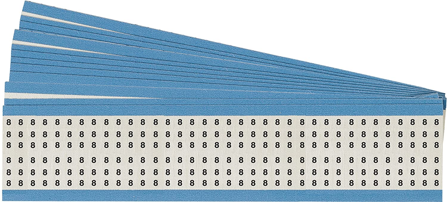 Brady HH-8-PK Acetate Cloth Solid Numbers Wire Marker Card B-12 Black on White 25 Cards