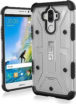 Urban Armor Gear Plasma pour Huawei Mate 9 Coque avec Norme Militaire américaine etui housse [Résistant aux chocs, Coins renforcés] - transparente