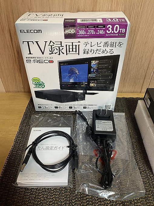 エレコム USB3.1(Gen1) 対応 外付けハードディスク 3.0TB(ブラック)ELD-ETVシリーズ ELD-ETV030UBK