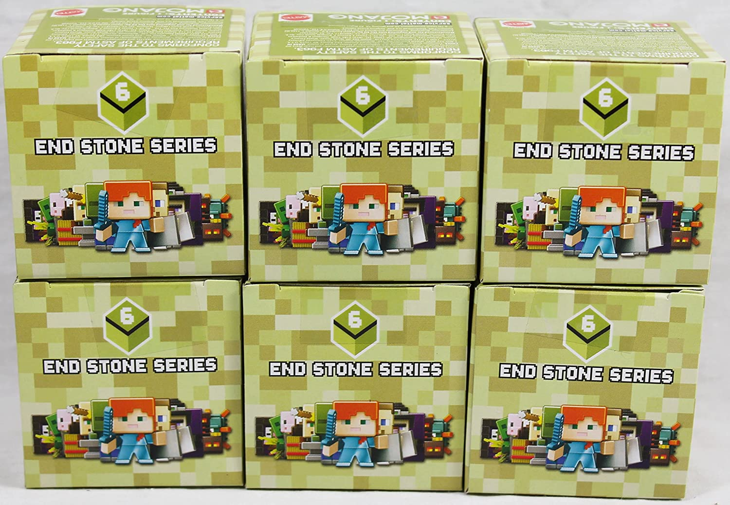 Set of 2 Mini Figures Minecraft End Stone Series 6 Blind Box