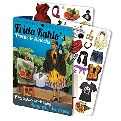 The Unemployed Philosophers Guild Frida's Frocks and Smocks - Frida Kahlo Magnetic Dress Up Doll Play Set: Toys & Games