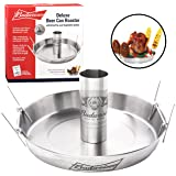 Budweiser Deluxe Beer Can Roaster w Drip Pan, Vegetable Spikes, & Recipe Guide -Stainless Steel Chicken Roaster- Cooks Meat & Vegetables at same time