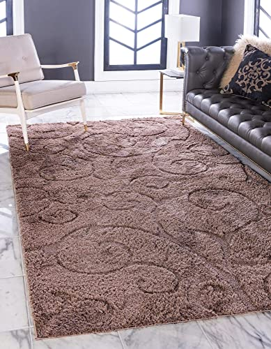 Deal of the week: Rugs.com Botanical Shag Collection Rug 9' x 12' Brown Shag Rug Perfect