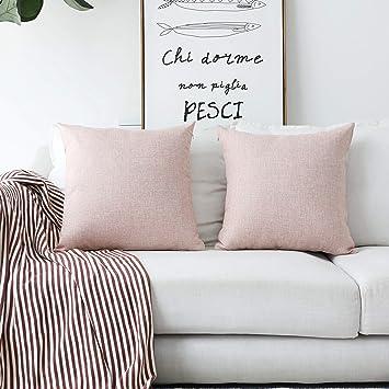Amazon.com: Fundas de almohada de lino con forro de Home ...