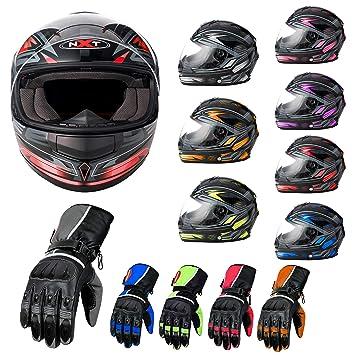 MXT Casco de moto integral para motocicleta, scooter, motocicleta, casco de carreras con