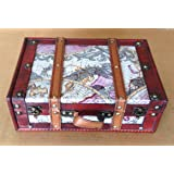Replica vintage-style World Map Decorative wooden suitcase (HF 004B)