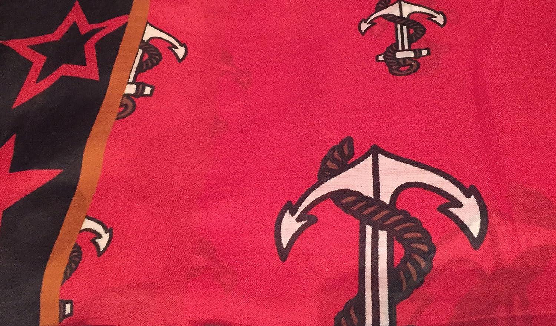 f53c8a379b13c0 LAFINITY T2309 Tuch Schal Anker Sterne Rockabilly Rot, Schwarz, Beige  Locker Leicht: Amazon.de: Bekleidung