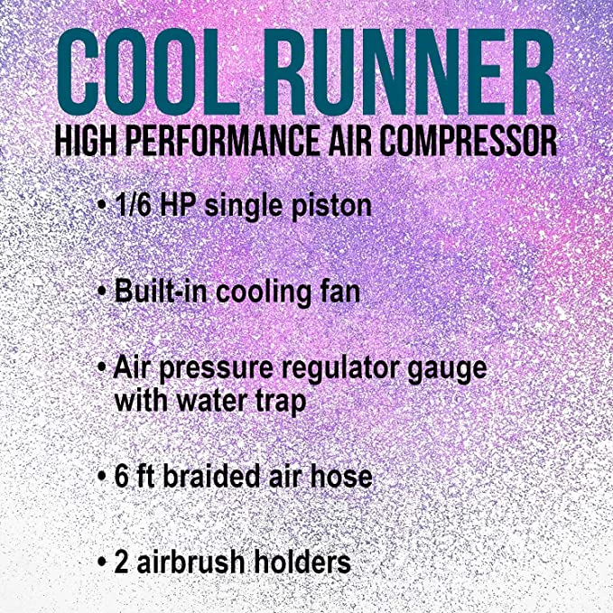 Master Airbrush Model TC 40T Cool Runner Professional High Performance New