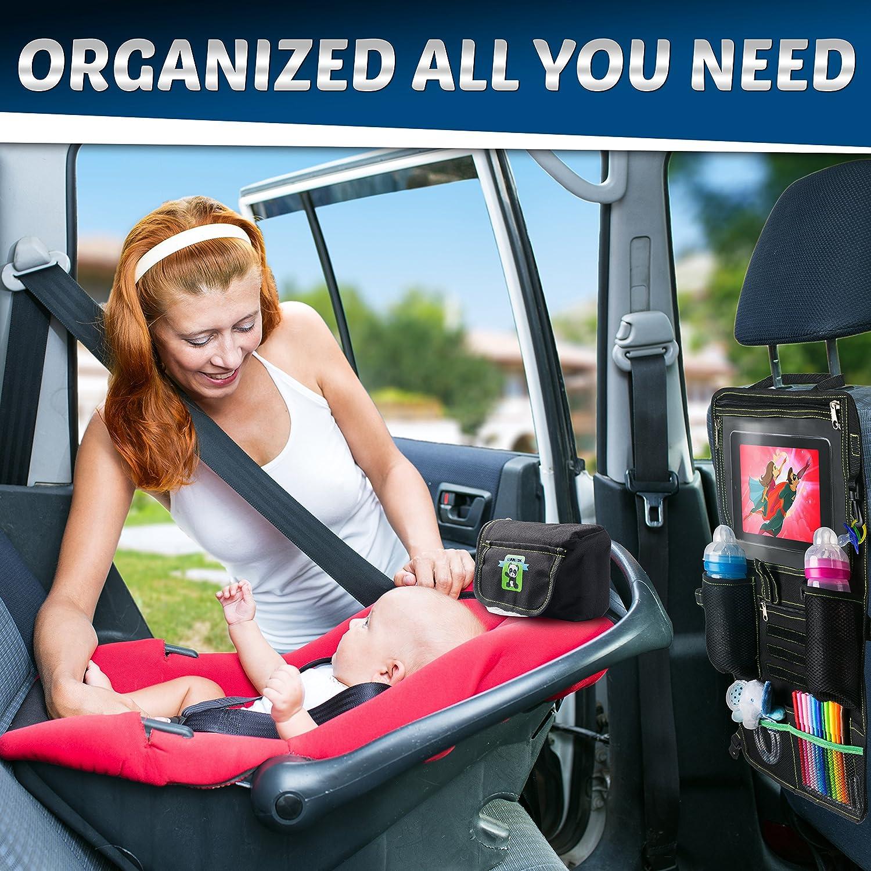 tuqiang/® Car Seat Back Organizador with Malla Pocket Car Storage Shelf for Cars Nylon con Magic Tape 40/x 25/cm