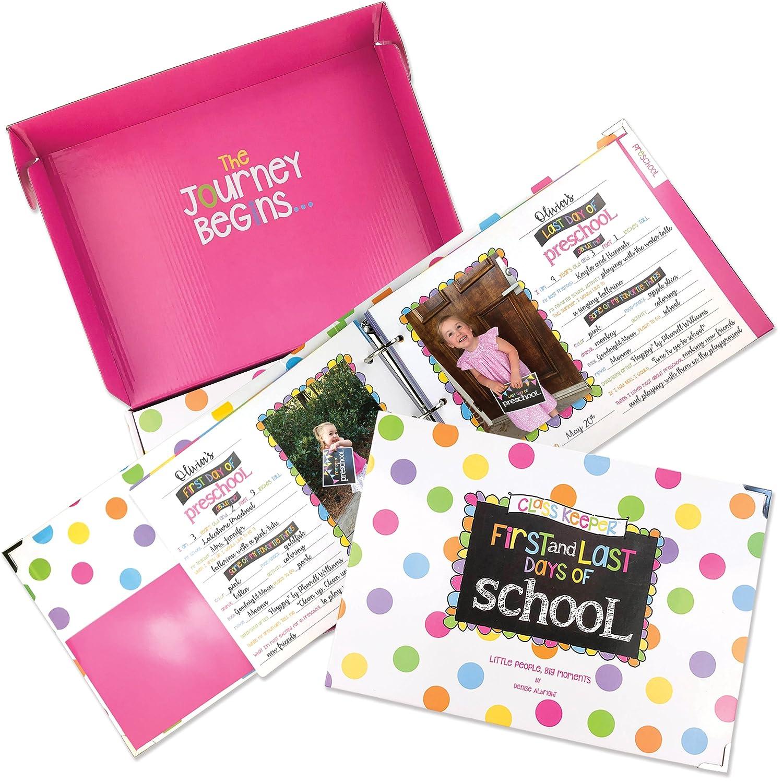 School Memory Book Keepsake Album, Scrapbook for Kids Memories Preschool to College, with Pocket for Every Grade, Class Photos, School Pictures Denise Albright