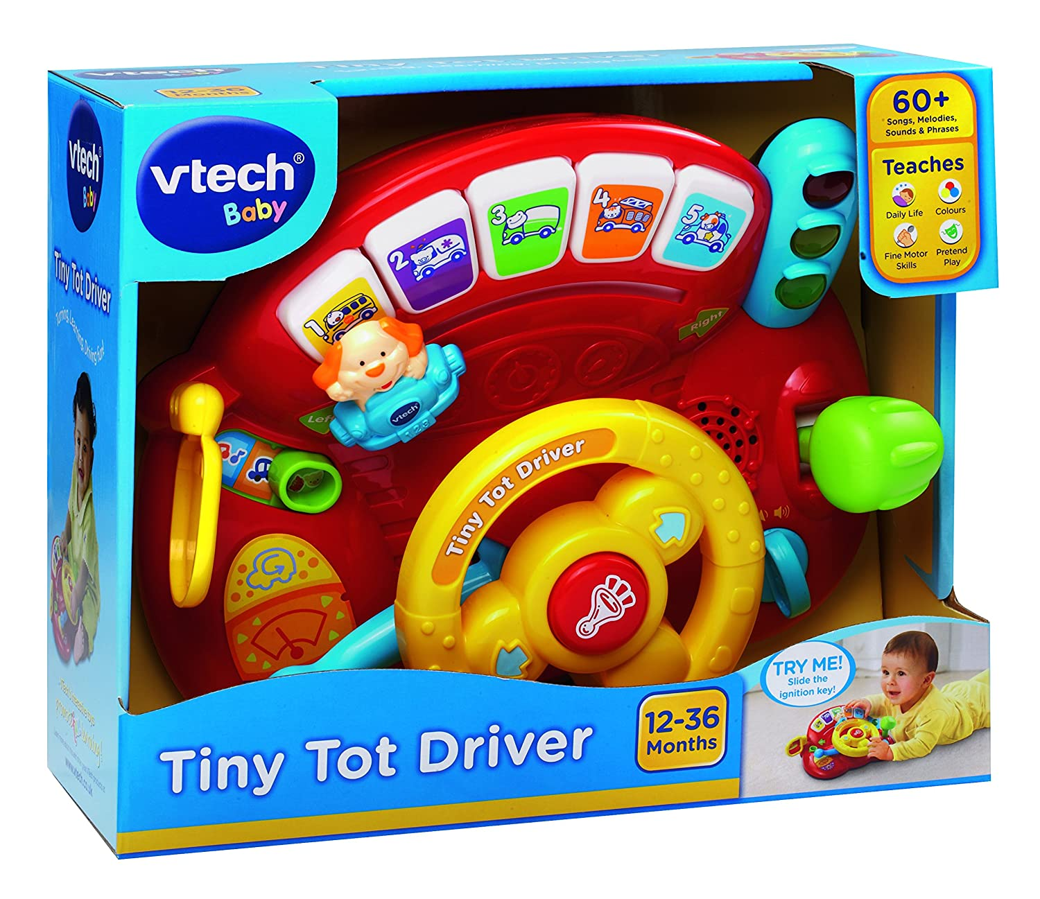 VTech Baby Tiny Tot Driver Multi Coloured Amazon Toys