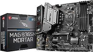 MSI Intel B365 LGA 1151 Support 9th/8th Gen Intel Processors Gigabit LAN DDR4 USB/M.2/HDMI Micro ATX Motherboard (MAG B365M Mortar)