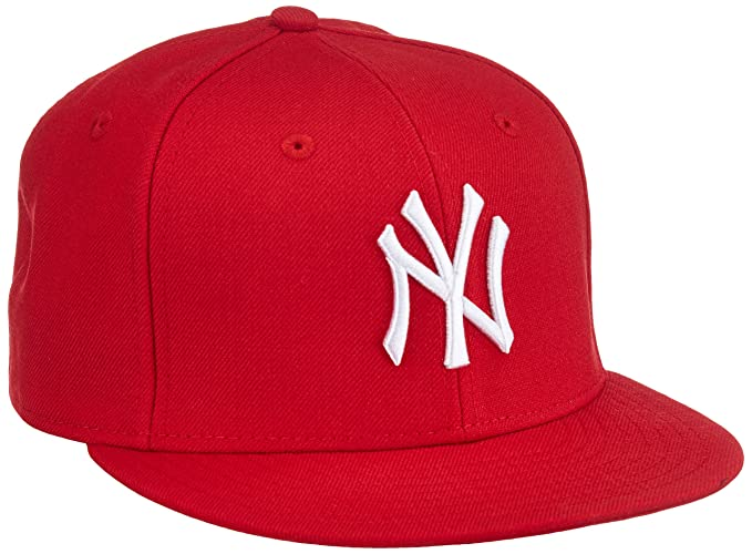 New Era Boy s MLB 9 Fifty Yankees Baseball Cap - Red White cc674940b56