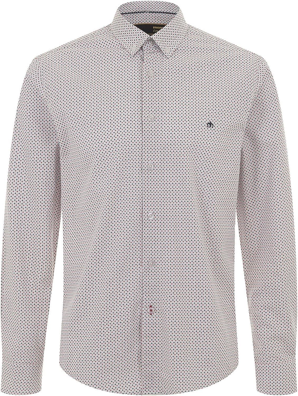 Merc of London Bain, L/S Dot Print SHRT Camisa, Rojo (Red/Blue), 42(Tallas De Fabricante: Large) para Hombre: Amazon.es: Ropa y accesorios