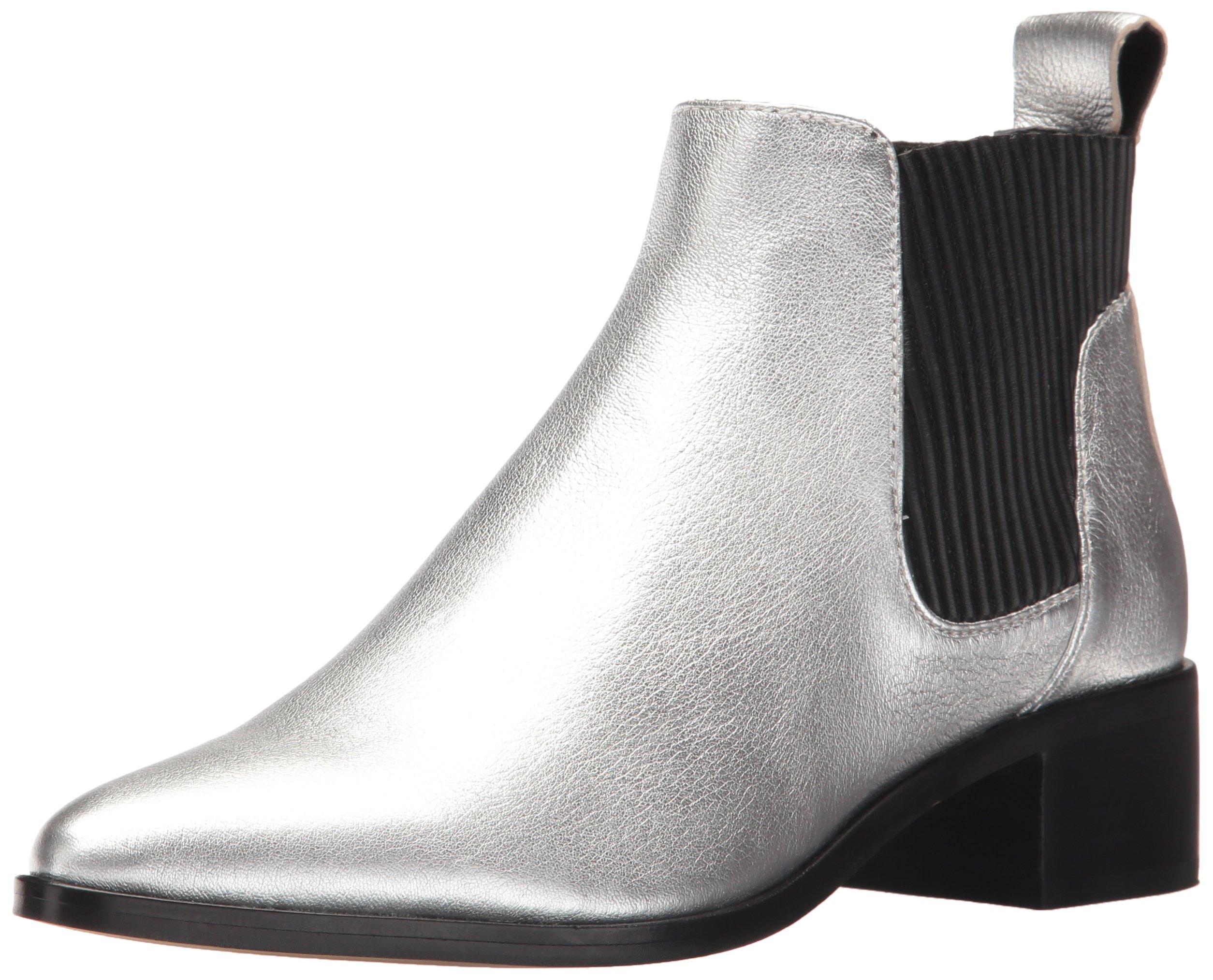 Dolce Vita Women's Macie Fashion Boot, Silver Leather, 7.5 Medium US