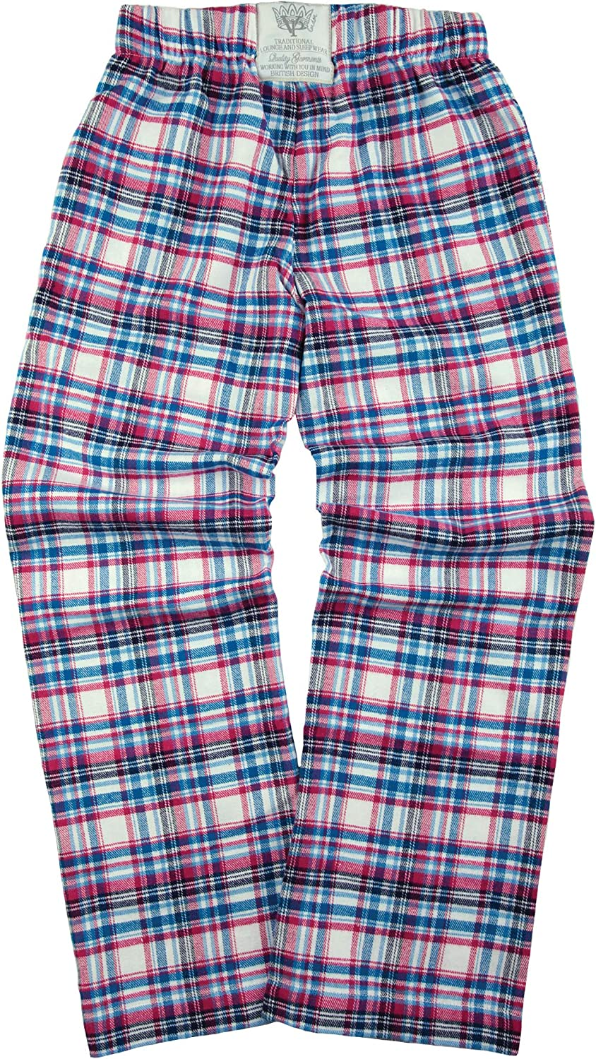 Girls and Boys Soft Cotton Check Lounge Pants Mini Vanilla Boys Red Check Lounge Pants Boys Pyjamas