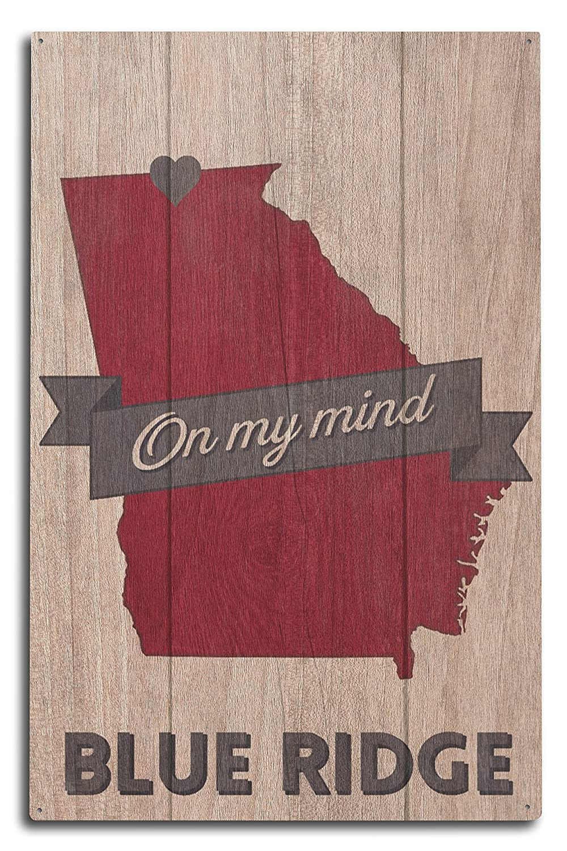 Blue Ridge、ジョージア – On my Mind 10 x 15 Wood Sign LANT-66378-10x15W B073665DFJ 10 x 15 Wood Sign