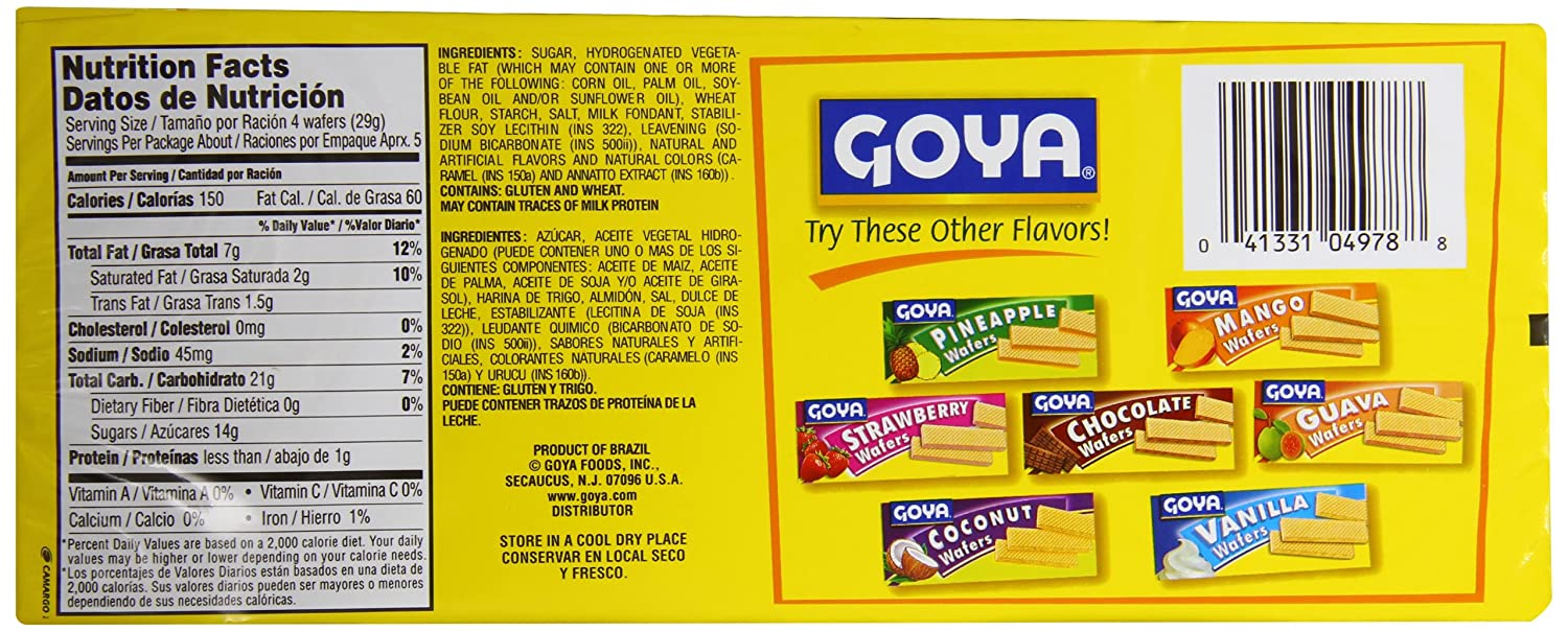 Goya Dulce de Leche Wafer Cookie, 5.6-Ounce (Pack of 30): Amazon.com: Grocery & Gourmet Food