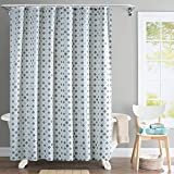 Deco Window Water Repellent Trellis Polyester 72x84-inch Shower Curtain with Hooks (Royal Brown)