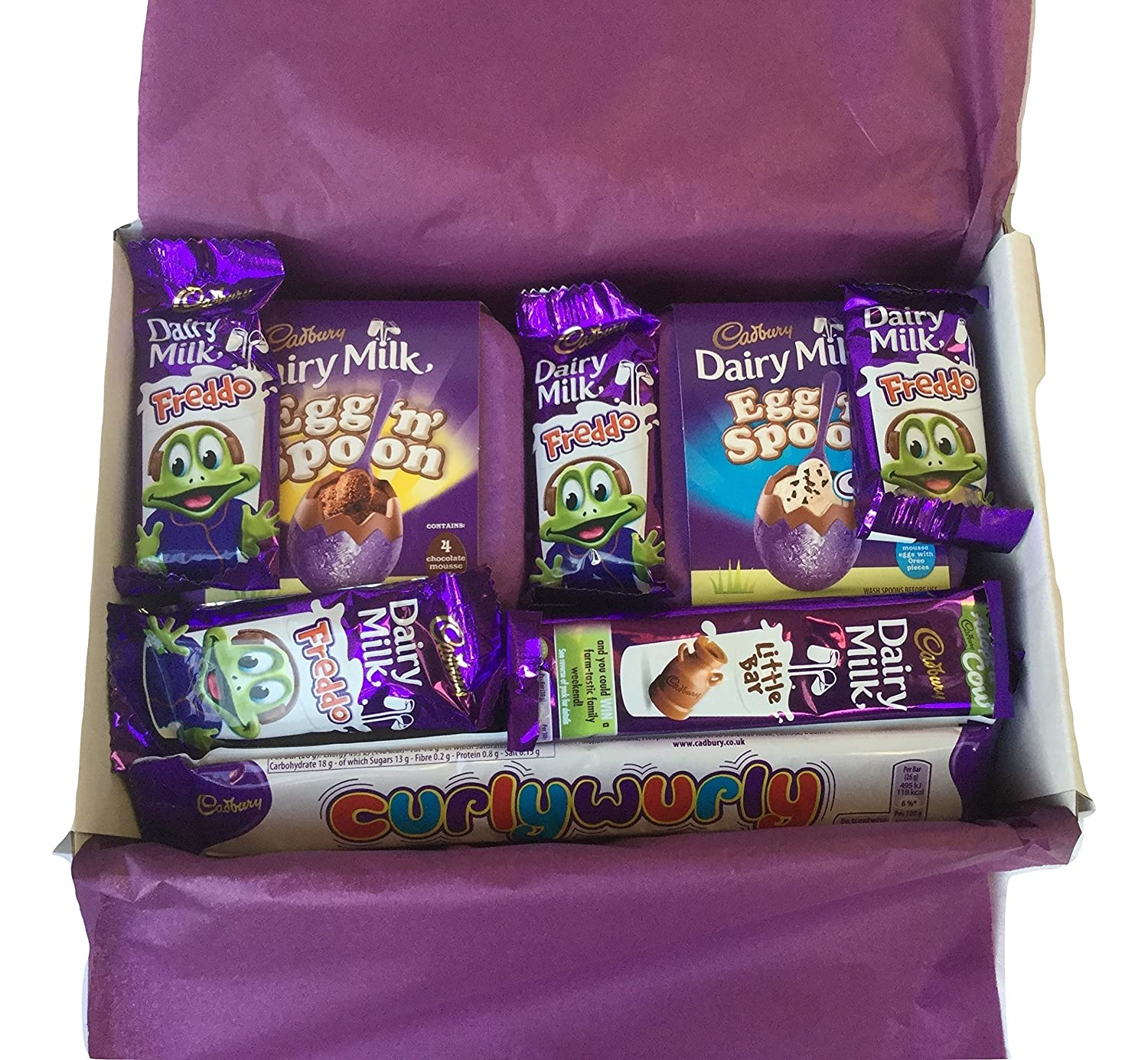 Cadbury easter chocolate selection gift box egg n spoon mini eggs cadbury easter chocolate selection gift box egg n spoon mini eggs curly wurly freddo dairy milk favourite choc sweets by biblegifts negle Image collections