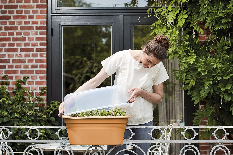 Marr/ón 55 cm elho Green Basics Jardinera 15.6 litros