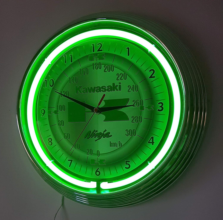 Neon reloj Kawasaki Ninja - Reloj pared iluminado con Neon ...
