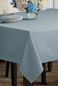 "Benson Mills Beauvalle Extra Wide Spillproof Tablecloth (68"" X 102"" Rectangular, Wedgewood Blue)"