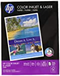HP Printer Paper, Color Inkjet and Laser Copy Paper, 24lb, 8.5 x 11, Letter, 97 Bright - 1 Pack / 400 Sheets (202040R)