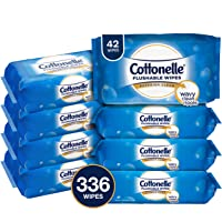 8 x 42-Count Cottonelle FreshCare Flushable Wipes (Total 336)