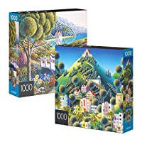 Deals on 2-Pack of 1000-Piece Jigsaw Puzzles Daffodils and Hidden Village