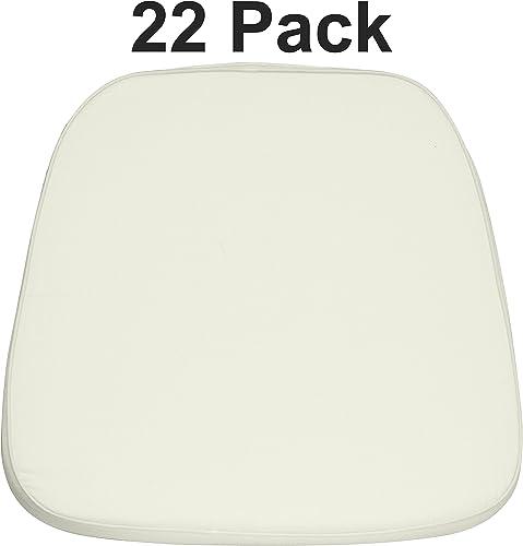 Flash Furniture 22 Pk. Soft Ivory Fabric Chiavari Chair Cushion