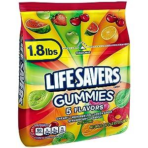LifeSavers Gummies Candy - 5 Flavors: 1.8LB Bag