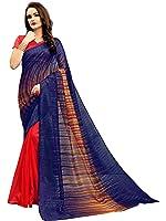 Glory Sarees Women's Bhagalpuri Art Silk Saree(vnart-33_red_blue)